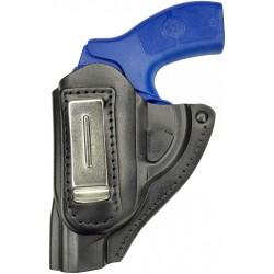 IWB 11Li Holster en cuir pour Revolver Kimber K6S Noir pour gauchers VlaMiTex