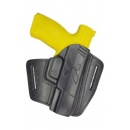 U5 Leder Gürtel Holster für CZ P-07 schwarz VlaMiTex
