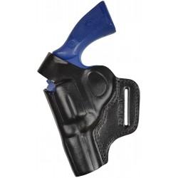 R3Li Leather Revolver Holster for COLT PYTHON 2,5 inch barrel black left-handed VlaMiTex