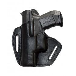 BXLi Leder Gürtel Holster für Walther P99 schwarz für Linkshänder VlaMiTex