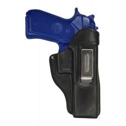 IWB 7 Leather Holster for Beretta 92FS black VlaMiTex