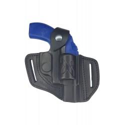 R1 Holster pour revolver HW37 Weichrauch HW38, en cuir, Noir, VlaMiTex