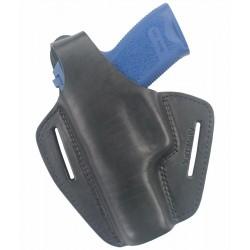 B2Li Leder Gürtel Holster für Glock 20 schwarz für Linkshänder
