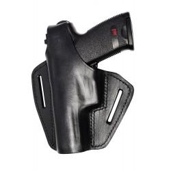 B2Li Leder Gürtel Holster für Röhm RG96 Roehm schwarz für Linkshänder