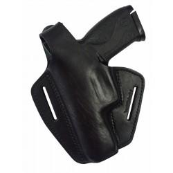 B2Li Leder Gürtel Holster für S&W M&P40 Pistolenholster schwarz für