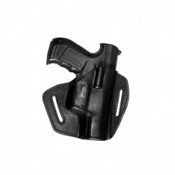 UX Pistolera de cuero para Ekol Aras Compact 85 negro VlaMiTex