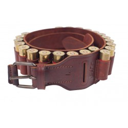 J7 Leather Bandolier Cartridge Belt 12 caliber Brown VlaMiTex