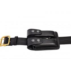 Gürtel 5 cm Breit Echt-Leder Zweidorn Dienstkoppel schwarz
