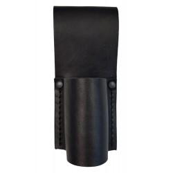 M16 Bolsa de Seguridad para Linterna y porra, Ø 30 mm, de Cuero, Negro