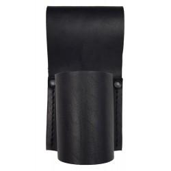 M17 Bolsa de Seguridad para Linterna y porra, Ø 40 mm, de Cuero, Negro
