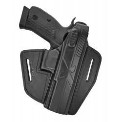 B15 Pistolera de piel para CZ SP-01 Shadow 1 negro VlaMiTex
