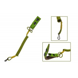 L2 Cinta elástica para enganchar la Pistola al cinturón, Lanyard con núcleo de poliaramida, Verde VlaMiTex