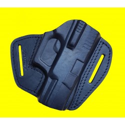 B-Ware U5 Fondina in pelle per Walther P99 / PPQ nero VlaMiTex