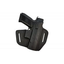 B18 Pistolera de piel para CZ 75 P-07 Duty negro VlaMiTex