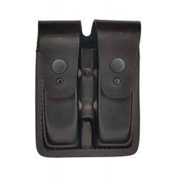 M2 Double compartiment à magazines en cuir pour Glock Noir VlaMiTex