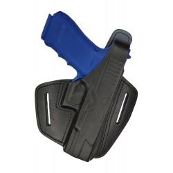 B9 Leder Gürtel Holster für Glock 20 21 35 38 Pistolenholster schwarz VlaMiTex