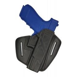 U9 Fondina in pelle per Glock 17 22 31 37 nero VlaMiTex