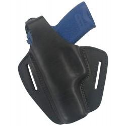 B2Li Holster en cuir pour pistolet USP compakt P10 pour gaucher Noir VlaMiTex