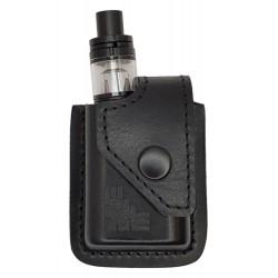 i1 Étui pour SMOK Qbox Kit 50w en Cuir Noir VlaMiTex
