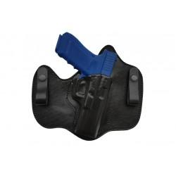 IWB P1 Fondina in pelle per Glock 17 22 31 37 nero VlaMiTex