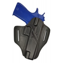 U23 Pistolera de cuero para Colt 1911 negro VlaMiTex