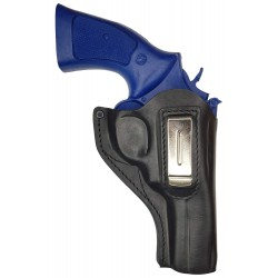 IWB 14 Holster en cuir pour Revolver Smith and Wesson 586 Noir VlaMiTex