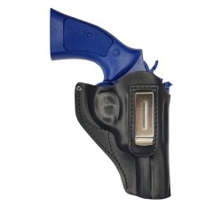IWB 13 Holster en cuir pour Revolver Smith and Wesson 10 Noir VlaMiTex