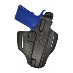 B23 Pistolera de piel para Spingfield 1911 negro VlaMiTex
