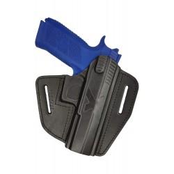 U15 Leder Holster für CZ P-09 Schnellziehholster schwarz VlaMiTex