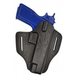U23 Fondina in pelle per FN Browning HP High Power nero VlaMiTex
