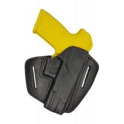 U9 Pistolera de piel para Ruger Security 9 negro VlaMiTex