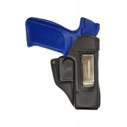 IWB 3 Pistolera de piel para Ruger 9E negro VlaMiTex