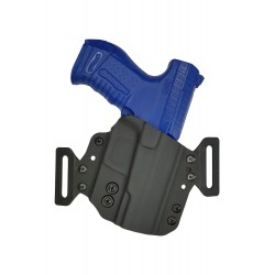 H1 Кобура из кайдекса для пистолета Walther P99, черная, Hoeppner und Schumann