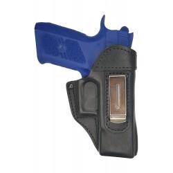 IWB 3 Pistolera de piel para CZ 75 D negro VlaMiTex