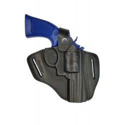 R3 Funda para revólver RUGER SPEED SIX con cañón de 7,6 cm negro VlaMiTex