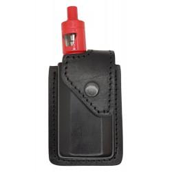 i2 Bolsa de cuero para eVic VTC Mini con Cubis Pro Full Kit, cuero genuino, Negro