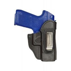 IWB 6 Pistolera de piel para Ruger P95 DAO negro VlaMiTex