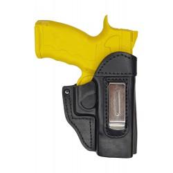 IWB 6 Pistolera de piel para Sphinx SDP Compact Tactical negro VlaMiTex