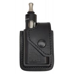 i1 Чехол кожаный для Vaporesso Target Mini черный, VlaMiTex