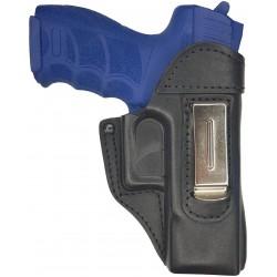 IWB 3 Pistolera de piel para Heckler & Koch P2000 negro VlaMiTex