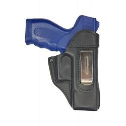 IWB 3 Pistolera de cuero para Taurus PT 24 negro VlaMiTex