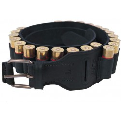 J25 Leather Bandolier Cartridge Belt 12 ga Black VlaMiTex