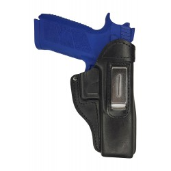 IWB 7 Pistolera de piel para CZ P-09 negro VlaMiTex