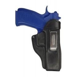 IWB 7 Pistolera de piel para CZ 97B negro VlaMiTex
