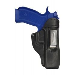 IWB 7 Pistolera de piel para CZ SP01 negro VlaMiTex