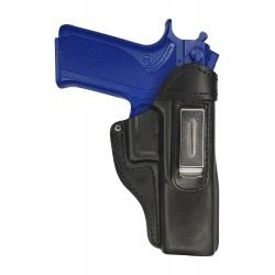 IWB 7 Pistolera de piel para Smith Wesson 4506 negro VlaMiTex