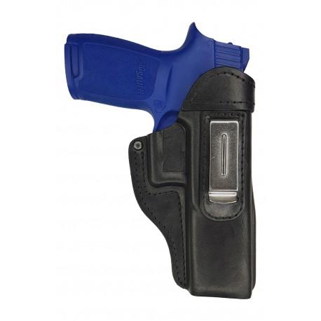 IWB 7 Leder Holster für Sig Sauer P250 Full Size schwarz VlaMITex