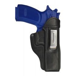 IWB 7 Pistolera de piel para BERSA THUNDER 9 PRO XT negro VlaMiTex
