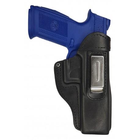 IWB 7 Leder Holster für FN FNS 5 Zoll schwarz VlaMiTex