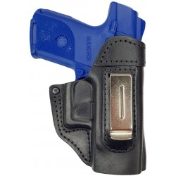 IWB 5 Leather Holster for Ruger SR9 Compact black VlaMiTex